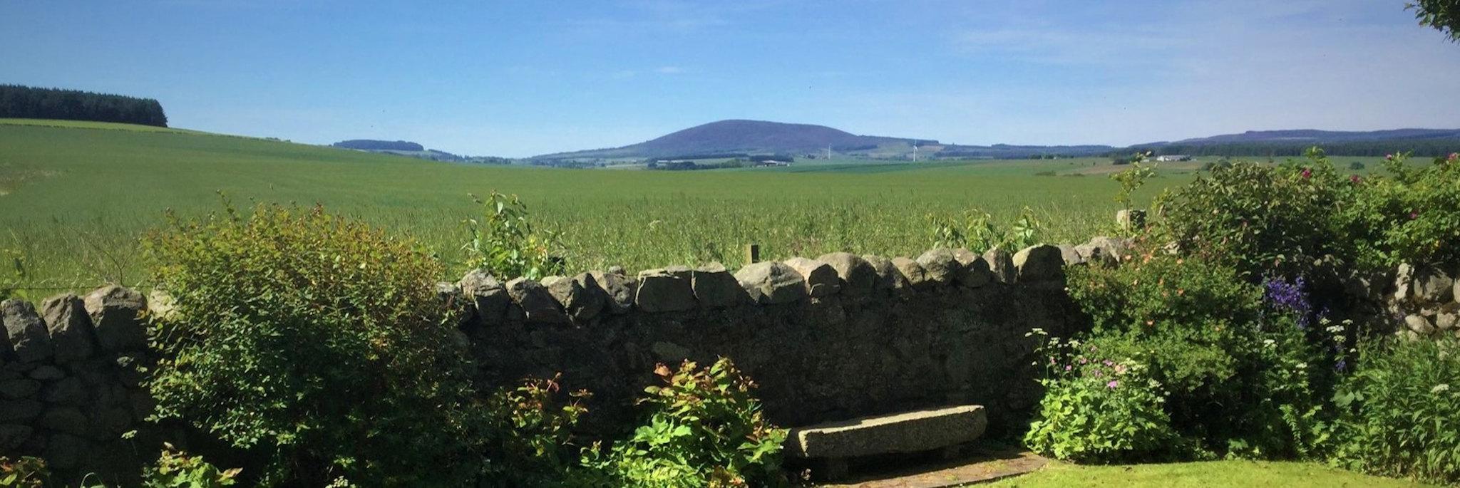 View from Brandon Lodge B&B near Portsoy