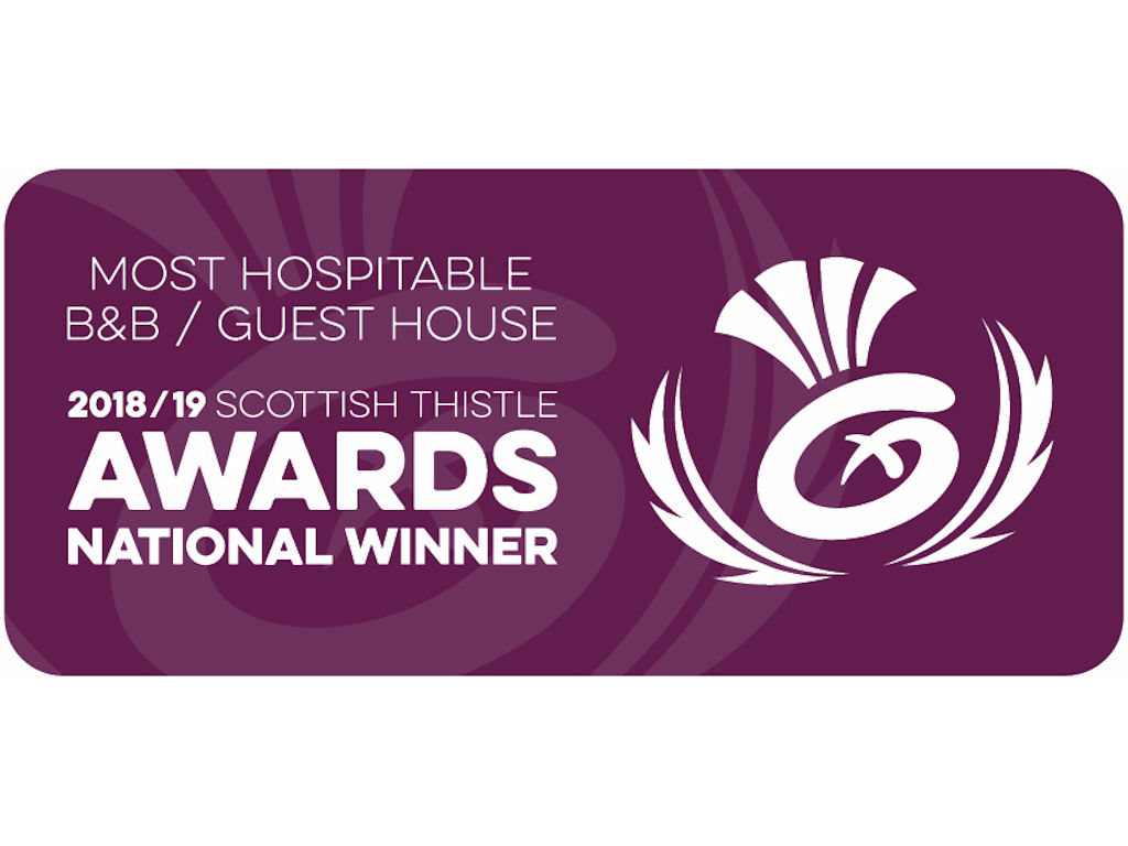 Scottish Thistle winner - Most Hospitable B&B / Guest House in Scotland