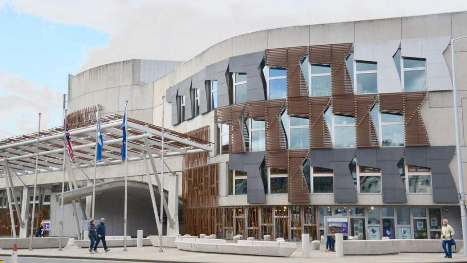 Scottish Parliament - Photo by Home Farm B&B, Muir of OD