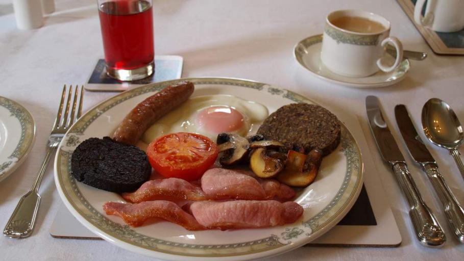 Cooked Scottish Breakfast at Spean Lodge