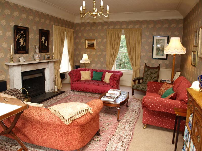 Guest lounge at Spean Lodge Country House