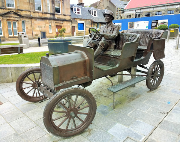 Model T Ford - bronze sculpture in Fort William