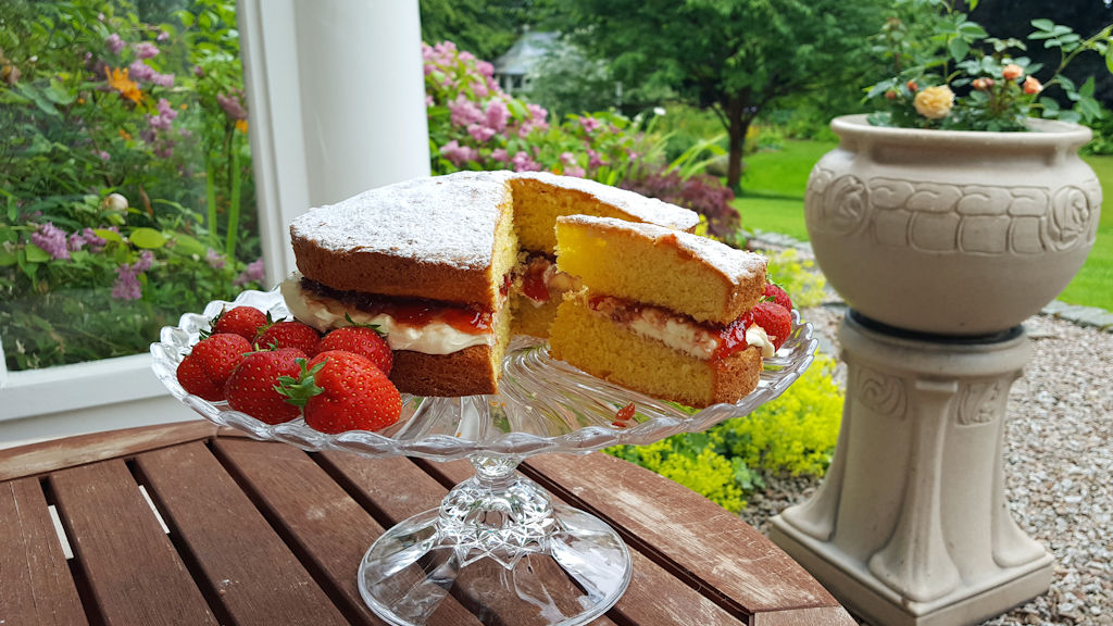 Homemade cake at The Dulaig B&B
