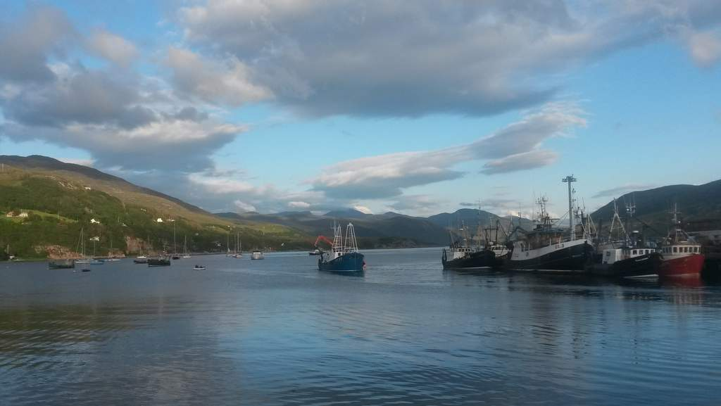 Ullapool harbour on the North Coast 500