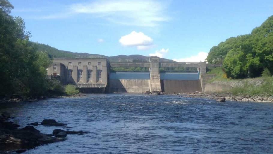 Pitlochry Dam in Perthshire