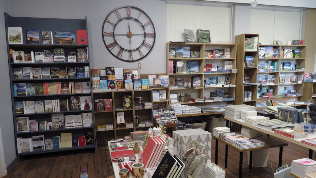 Book shop in Beauly, Scottish Highlands
