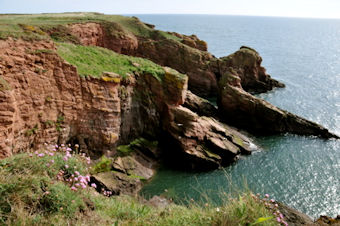 Sea cliffs at Arbroath