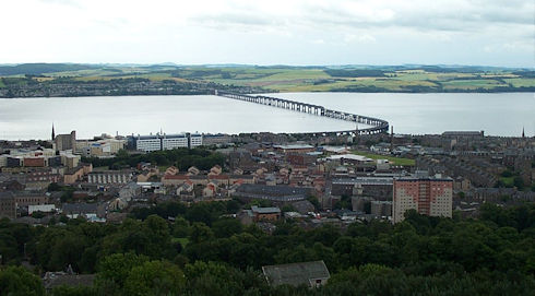 View over Tay estuary