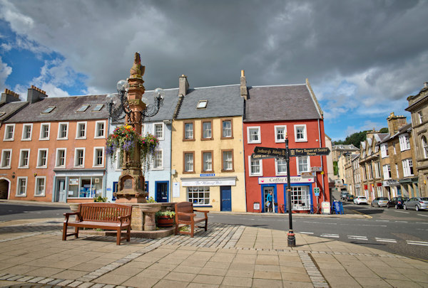 Jedburgh town centre, Scotland