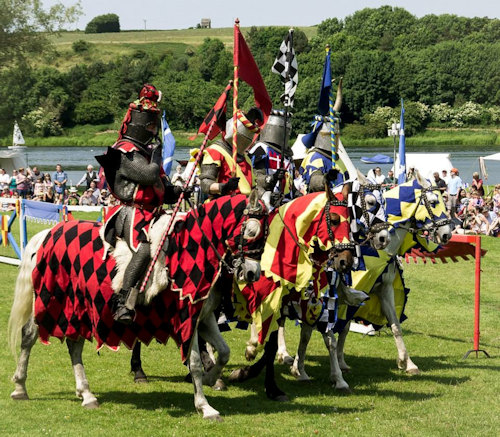 Jousting at Linlithgow palace, Scotland