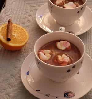 Cinnamon and Orange Hot Chocolate