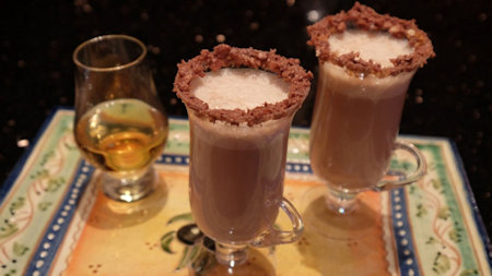 Maple, Pecan and Whisky Hot Chocolate