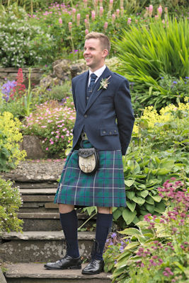 Scottish wedding - man in kilt