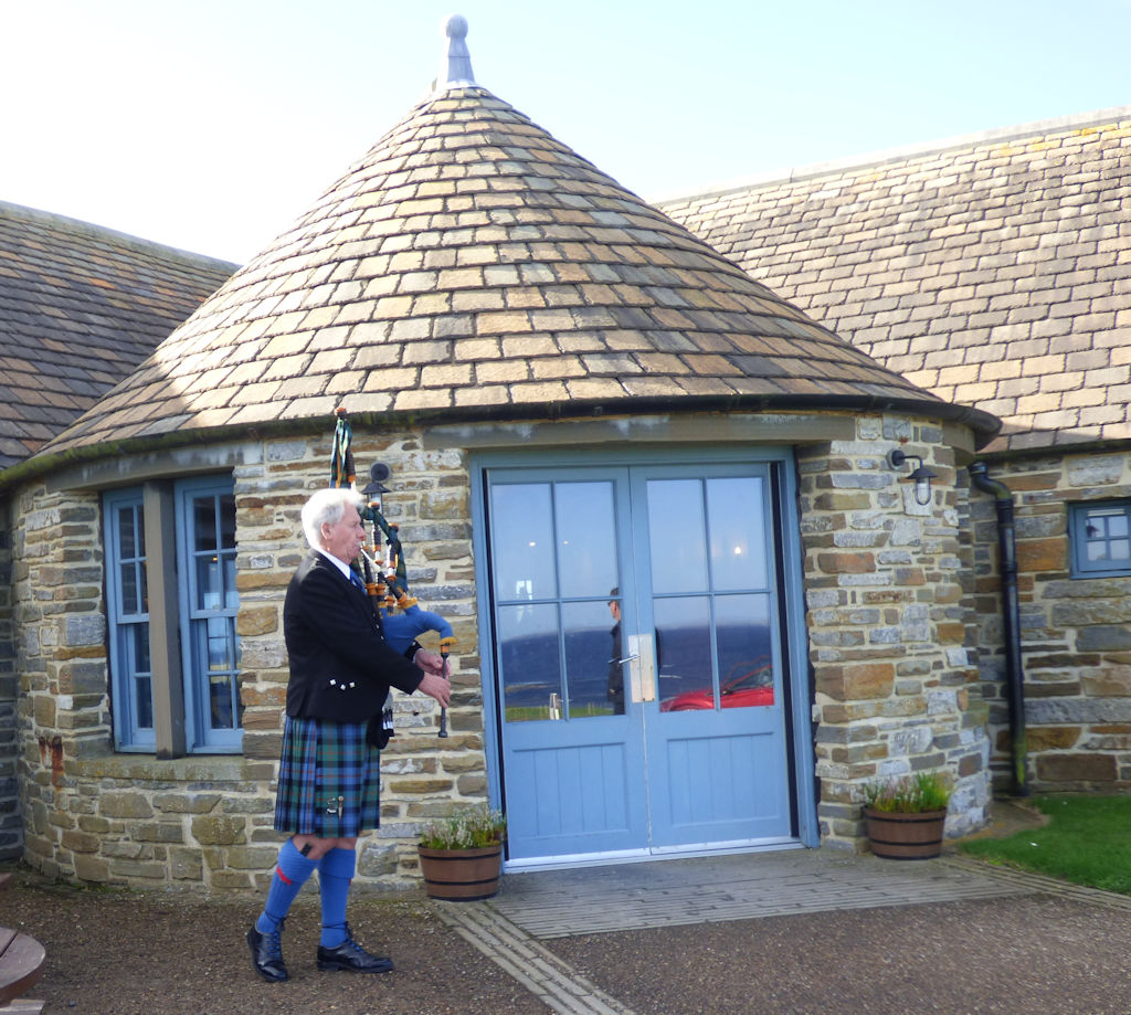 Piper at Castle of Mey tearoom
