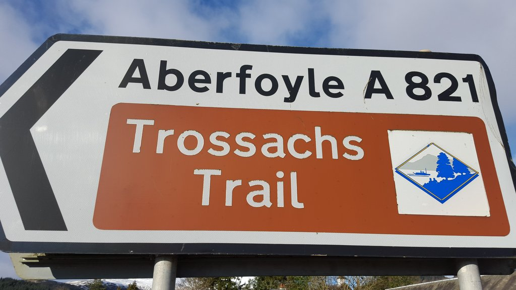 Trossach Trail road sign