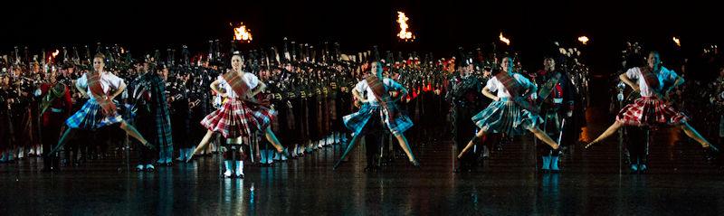 Highland dancers at the Edinburgh Tattoo
