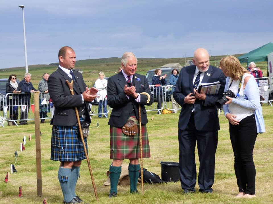 HRH Prince of Wales at the Mey Highland Games, photo by Auld Post Office B&B