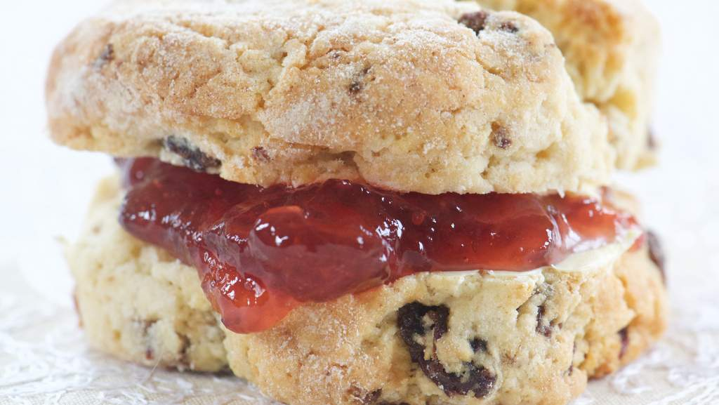 Delicious scones at Home Farm B&B
