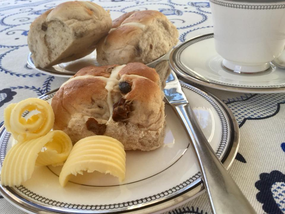 Hot cross buns at Northlands B&B, Pitlochry