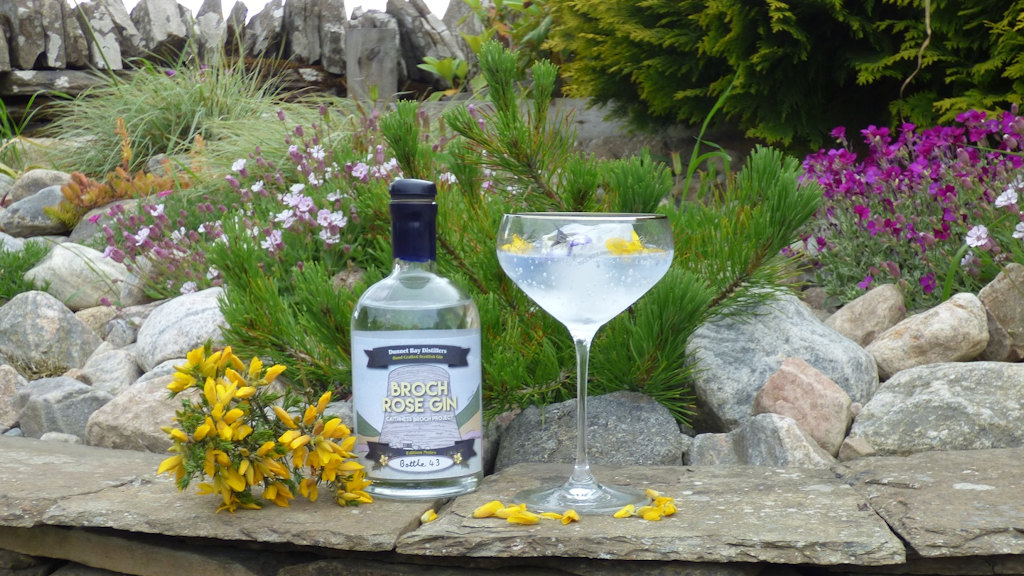 Broch Rose Gin - picture by Auld Post Office, nr Thurso