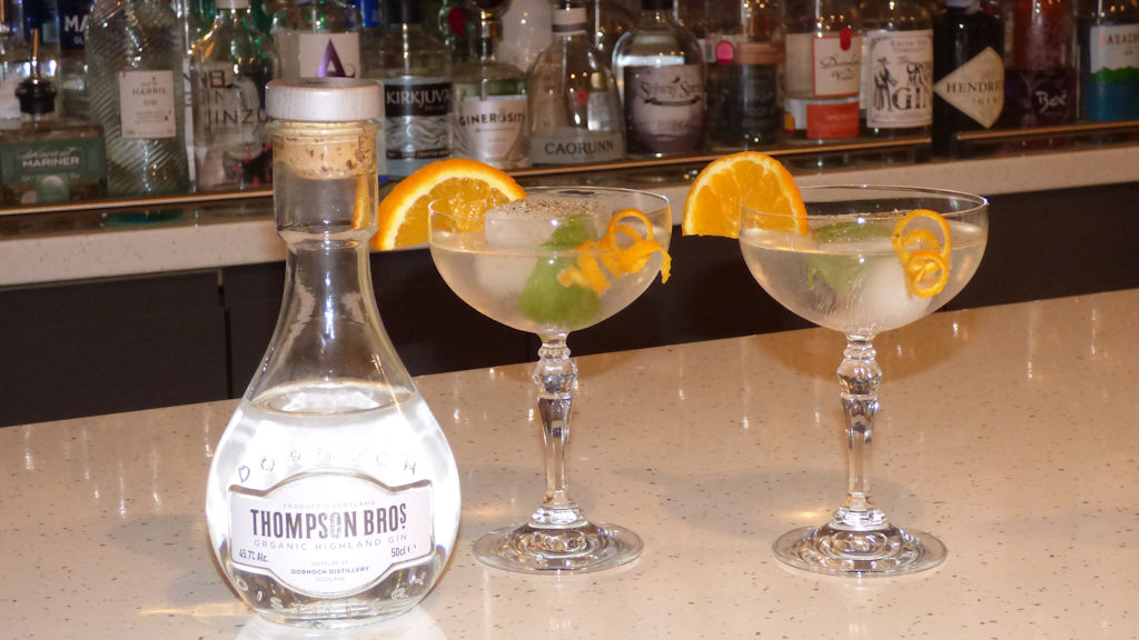Gin by Thompson Brothers Dornoch - photo by Auld Post Office B&B