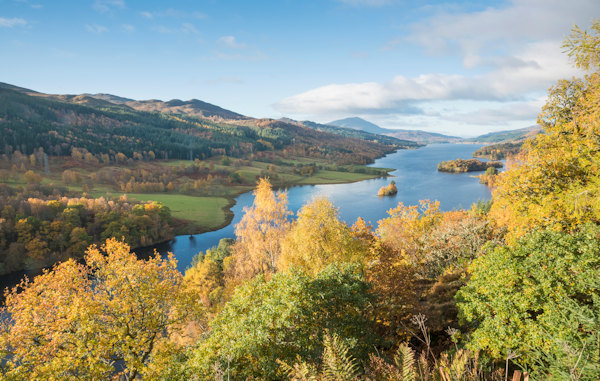 Queen's View over Loch Tummel, Perthshire. Photo by Kenny Lam / Visit Scotland
