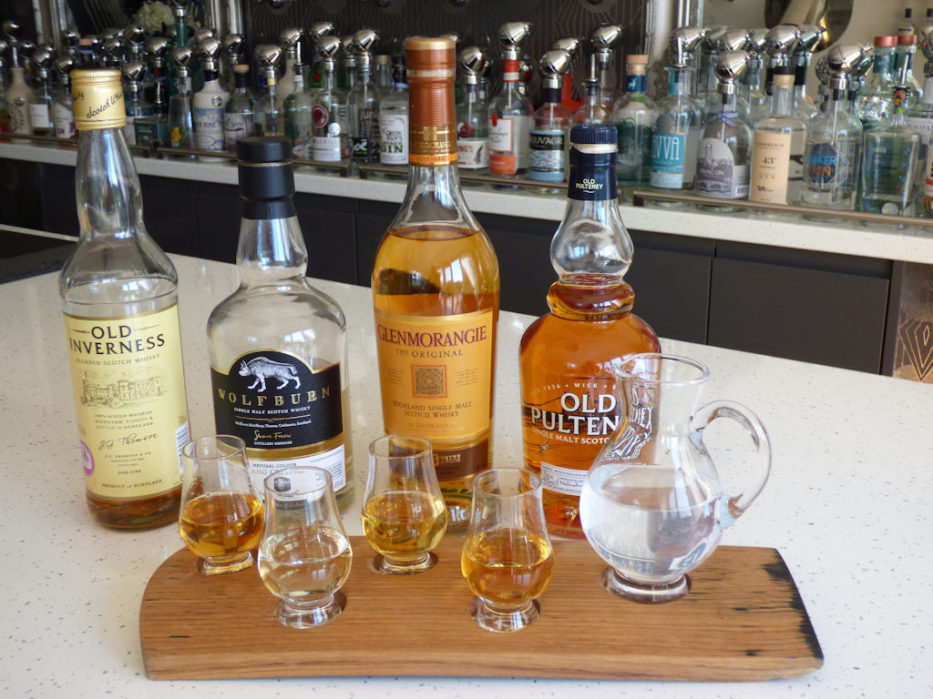 Whisky tasting at the Auld Post Office B&B